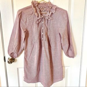 SALE! Juicy Couture Ruffle Neck Blouse Tunic